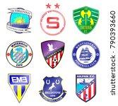 football team logo. set. the... | Shutterstock .eps vector #790393660