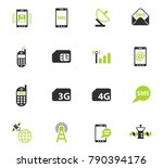 mobile connection color vector... | Shutterstock .eps vector #790394176