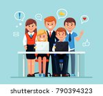 our team in office. group of... | Shutterstock .eps vector #790394323