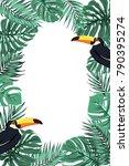 tropical jungle rainforest... | Shutterstock .eps vector #790395274