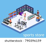 isometric flat 3d isolated... | Shutterstock .eps vector #790396159