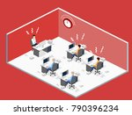 isometric flat 3d isolated... | Shutterstock .eps vector #790396234