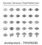 eye line icon editable stroke... | Shutterstock .eps vector #790398280