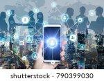 business network concept....   Shutterstock . vector #790399030