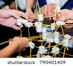 team building activities... | Shutterstock . vector #790401409