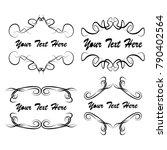 set of vector vintage frames on ...   Shutterstock .eps vector #790402564