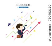 businessmen look forward to the ...   Shutterstock .eps vector #790403110