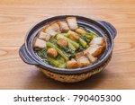 pork casserole cuisine | Shutterstock . vector #790405300