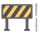 road barrier flat colored icon  | Shutterstock .eps vector #790405600