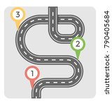 road map flat colored icon  | Shutterstock .eps vector #790405684