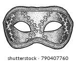venetian mask illustration ... | Shutterstock .eps vector #790407760