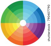 color palette  colorful circle  | Shutterstock .eps vector #790407790
