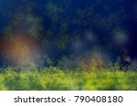 Small photo of aBubble yellow abstract on blue background
