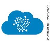 iota cloud flat vector icon. an ... | Shutterstock .eps vector #790409644
