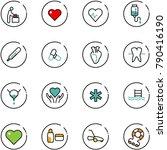 line vector icon set   baby... | Shutterstock .eps vector #790416190