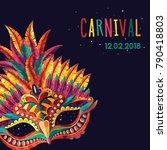 happy carnival festive concept... | Shutterstock .eps vector #790418803