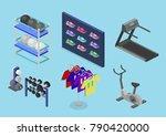 isometric flat 3d isolated... | Shutterstock . vector #790420000