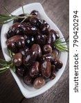 cured  pickled or brined olive... | Shutterstock . vector #790420294