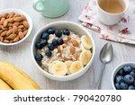 healthy vegetarian breakfast... | Shutterstock . vector #790420780