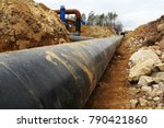 construction site of oil... | Shutterstock . vector #790421860