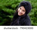portrait of a woman. beautiful...   Shutterstock . vector #790423000