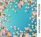 spring vector background with...   Shutterstock .eps vector #790423186