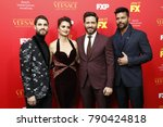 """Small photo of LOS ANGELES - JAN 8: Darren Criss, Penelope Cruz, Edgar Ramirez, Ricky Martin at the """"The Assassination of Gianni Versace: American Crime Story"""" at the ArcLight Theater on January 8, 2018 in Los Ange"""