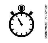 stopwatch  timer or chronograph ... | Shutterstock . vector #790424989