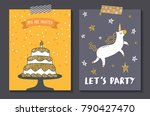 birthday card templates | Shutterstock .eps vector #790427470