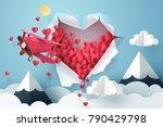 paper plane flying through a... | Shutterstock .eps vector #790429798