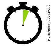 isolated stopwatch icon black... | Shutterstock . vector #790429978