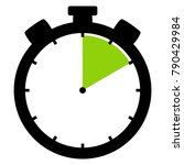 isolated stopwatch icon black... | Shutterstock . vector #790429984