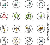line vector icon set   stomach... | Shutterstock .eps vector #790432876