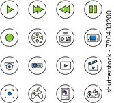 line vector icon set   play... | Shutterstock .eps vector #790433200