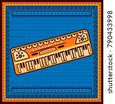 vector design of keyboard music ... | Shutterstock .eps vector #790433998