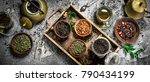 fragrant chinese tea. on a... | Shutterstock . vector #790434199