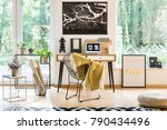 flowers on table next to basket ... | Shutterstock . vector #790434496