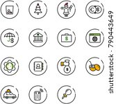 line vector icon set   trash...   Shutterstock .eps vector #790443649