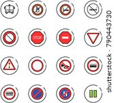line vector icon set   airport... | Shutterstock .eps vector #790443730