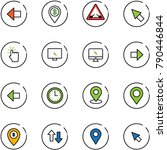 line vector icon set   left... | Shutterstock .eps vector #790446844
