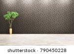 empty room interior background  ... | Shutterstock . vector #790450228