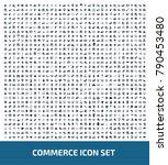 commerce icon set design | Shutterstock .eps vector #790453480