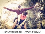 couple in the park. the... | Shutterstock . vector #790454020
