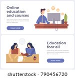 banners for online learning and ... | Shutterstock .eps vector #790456720