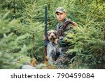 hunter with a german wire... | Shutterstock . vector #790459084
