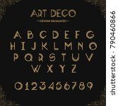 Art Deco Creative Font....