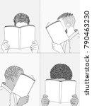 hand drawn illustrations of men ... | Shutterstock .eps vector #790463230