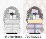 hand drawn illustration of a... | Shutterstock .eps vector #790463233