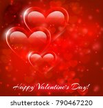abstract image of the heart. ... | Shutterstock .eps vector #790467220