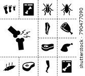 leg icons. set of 13 editable... | Shutterstock .eps vector #790477090